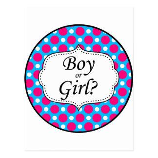 Boy or Girl Polka Dot Milestone Post Cards