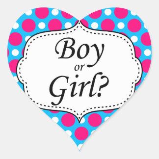 Boy or Girl Polka Dot Milestone Sticker