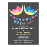 Boy Or Girl Teddy Bears Gender Reveal Party Personalized Announcements