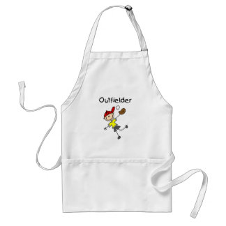 Boy Outfielder Tshirts and Gifts Adult Apron