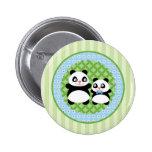 Boy Panda Bear Button