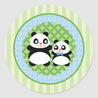 Boy Panda Bear Sticker