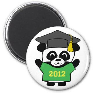 Boy Panda Green Gold 2012 Grad Magnet