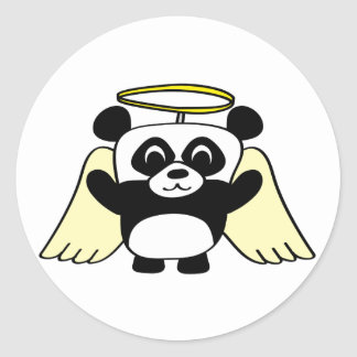 Boy Panda Little Angel Classic Round Sticker
