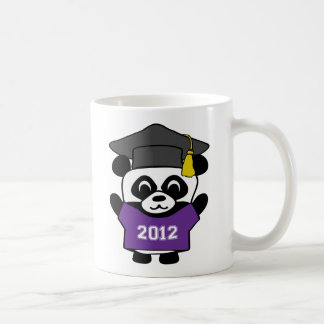 Boy Panda Purple & White 2012 Grad Coffee Mug