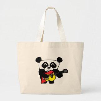 Boy Panda with Electric Guitar Tote Bag