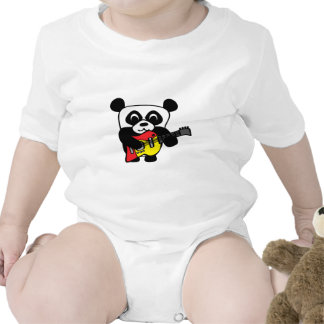 Boy Panda with Electric Guitar T-shirts