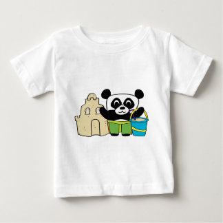 Boy Panda with Sandcastle Baby T-Shirt