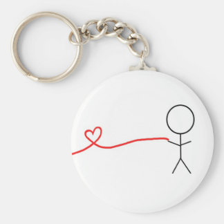 Boy Part of Matching Couples Keychain