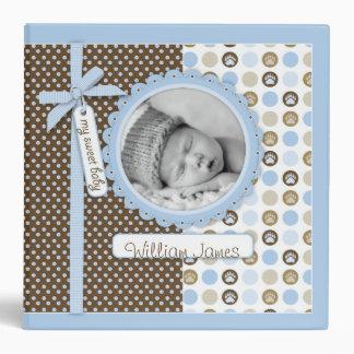 Boy Paw Print Polka Dots 2 in. Photo Album 3 Ring Binder