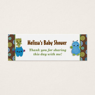 Boy Peek a Boo Monsters Baby Shower Favor Tags PAB
