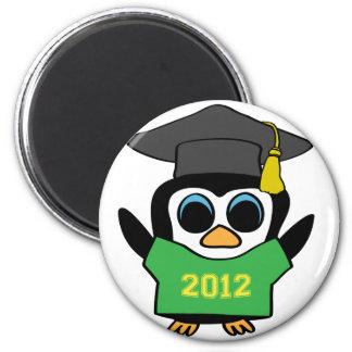 Boy Penguin Green Gold 2012 Grad Fridge Magnets