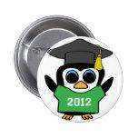 Boy Penguin Green & White 2012 Grad Pin