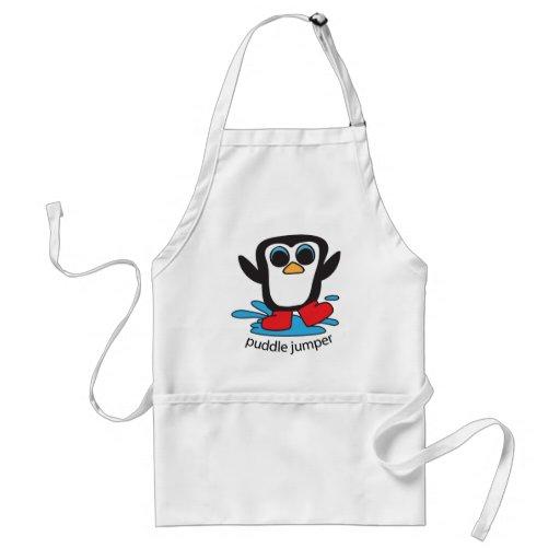Boy Penguin Puddle Jumper Adult Apron