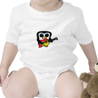 Boy Penguin with Electric Guitar Baby Creeper