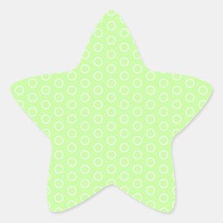 boy pequeño muster baby baby gire puntúe dots pegatina en forma de estrella