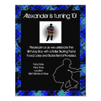 Boy Personalized Skateboard Party Invitation