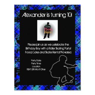 Boy Personalized Skateboard Party Invitation