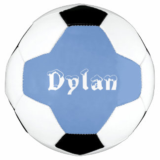 Boy personalized white and blue soccer ball