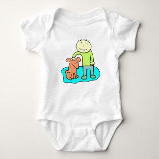 Boy Petting Dog T-shirts
