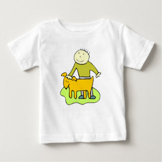 Boy Petting Dog Tshirt