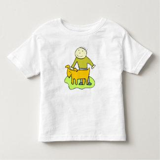 Boy Petting Dog T Shirt