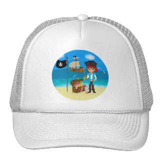Boy Pirate with Treasure Chest Hat