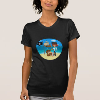 Boy Pirate with Treasure Chest Shirt