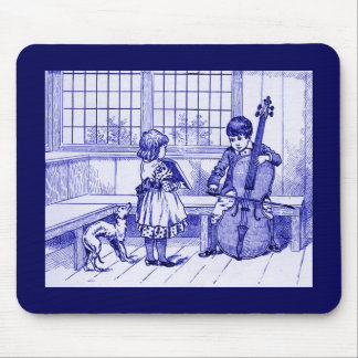 Boy Playing a CELLO Mousepad Vintage Image