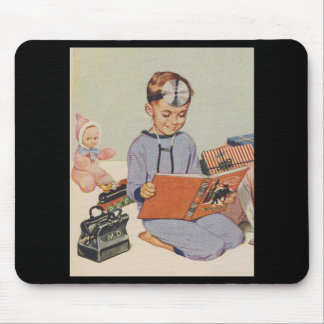 Boy playing Doctor  - Retro Mouse Pad
