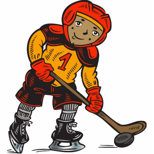 Boy Playing Hockey Cutout