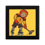 Boy Playing Hockey Jewelry Box