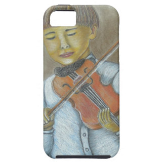 boy playing violin iPhone SE/5/5s case