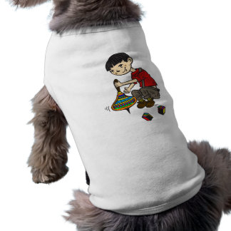 Boy Playing With Toys 2 Dog Tee
