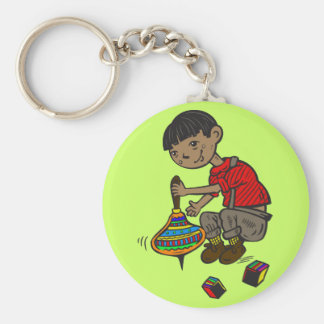 Boy Playing With Toys Key Chain