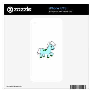 BOY PONY DECALS FOR iPhone 4