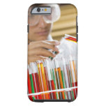 Boy pouring mixture from test tube tough iPhone 6 case