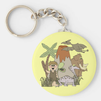 Boy Prehistoric LIfeTshirts and Gifts Key Chain