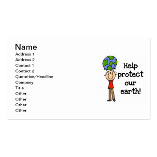 Boy Protect Our Earth T-shirts and Gifts Business Cards