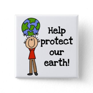 Boy Protect Our Earth T-shirts and Gifts button