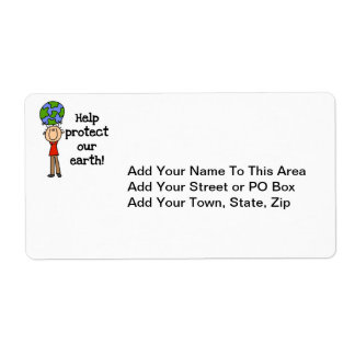 Boy Protect Our Earth T-shirts and Gifts Label