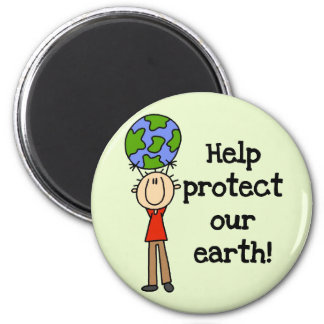 Boy Protect Our Earth T-shirts and Gifts Fridge Magnet