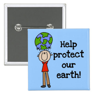 Boy Protect Our Earth T-shirts and Gifts Pin