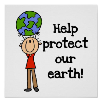 Boy Protect Our Earth T-shirts and Gifts Poster