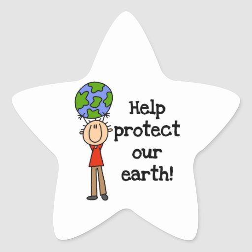 Boy Protect Our Earth T-shirts and Gifts Star Sticker