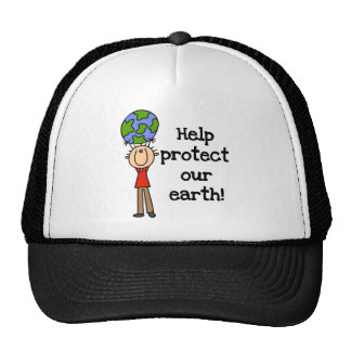 Boy Protect Our Earth T-shirts and Gifts Trucker Hat