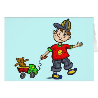 Boy Pulling Toy 2 Card