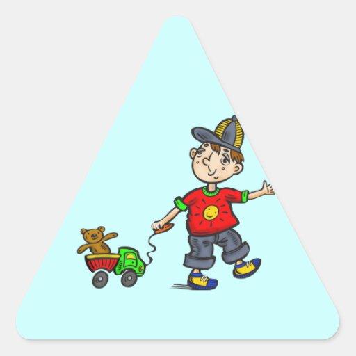 Boy Pulling Toy 2 Sticker
