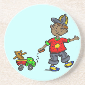 Boy Pulling Toy Coasters