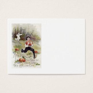 Boy Pumpkin Patch Ghost Costume Business Card